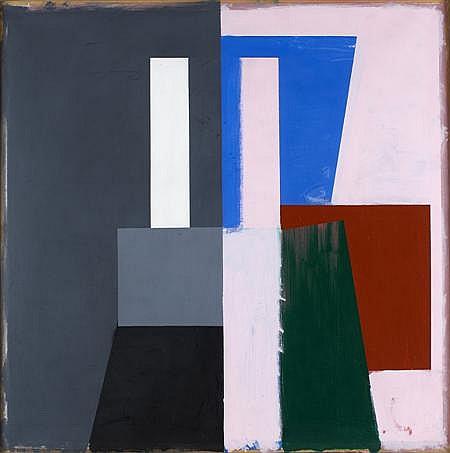 PAUL HUXLEY (B. 1938) COMPOSITION 126cm x 126cm (49.5in x 49.5in)