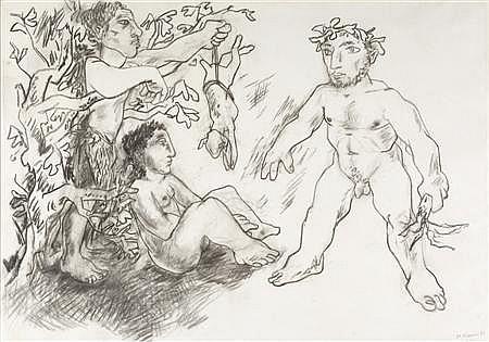 PETER DE FRANCIA (B. 1921) UNTITLED 84cm x 104cm (33in x 41in)