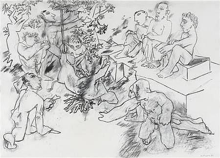 PETER DE FRANCIA (B. 1921) UNTITLED 54cm x 75cm (21.25in x 29.5in)