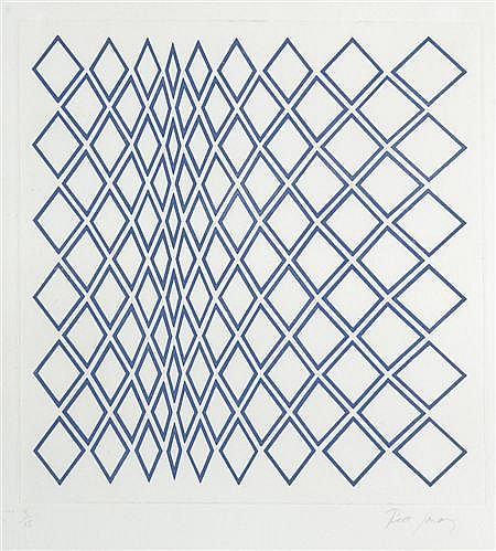 TESS JARAY (B. 1937) COMPOSITION 31.5cm x 30.5cm (12.5in x 12in) and another three by the same name (4)