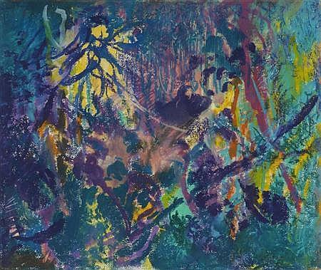 JOHN HUBBARD (B. 1931) UNTITLED 33cm x 40cm (13in x 15.75in)