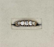 A five stone diamond ring Ring size: K/L
