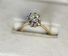A single stone diamond ring Ring size: L/M