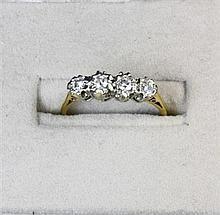 Two diamond set rings Ring sizes: N, O