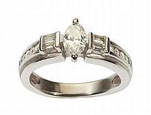 An unusual diamond set ring Ring size: J