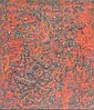ANWAR JELAL SHEMZA (PAKISTANI, 1928-1985) COMPOSITION IN RED 27cm x 23cm (10.5in x 9in), Anwar Jalal Shemza, Click for value