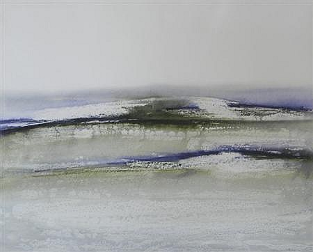 § BILL WRIGHT R.S.W (SCOTTISH, B.1931) SEA SHIMMER 51cm x 61cm (20in x 24in)