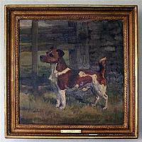 NINA COLMORE (BRITISH, 1889-1973) CURRY, A TERRIER Signed with initials, oil on canvas 40