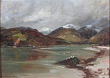 JAMES KAY R.S.A., R.S.W (1858-1942) HOLY LOCH 24.5cm x 34cm (9.75in x 13.25in)