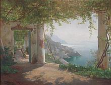 CARL FREDERIK PEDER AAGAARD (DANISH 1833-1895) THE AMALFI COAST 65.5cm x 85cm (25.75in x 33.5in)