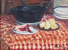 § PAUL LUCIEN MAZE (FRENCH 1887-1979) STILL LIFE - PREPARING STEW 28cm x 39cm (11in x 15.25in)
