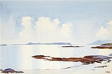 § MARY HOLDEN BIRD (SCOTTISH D.1978) SUN IN THE MORNING 33cm x 49cm (13in x 19.25in)
