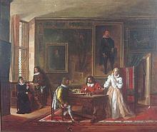 JOHN FREDERICK PASMORE (BRITISH 1820-1881) THE CAVALIER 62.5cm x 73.5cm (24.5in x 29.5in)