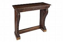 AMERICAN OAK CONSOLE TABLE 19TH CENTURY 112cm wide, 99cm high, 46cm deep