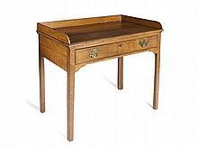 OAK SIDE TABLE 84cm wide, 83cm high, 53cm deep