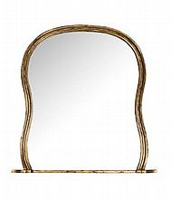 WILLIAM IV GILTWOOD OVERMANTEL MIRROR 160cm wide, 169cm high