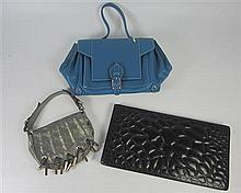 COLLECTION OF THREE LEATHER DESIGNER HANDBAGS