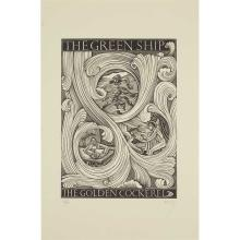 ERIC GILL (1882-1940) TWO WOODCUT ILLUSTRATIONS FOR 'THE GREEN SHIP', 1936