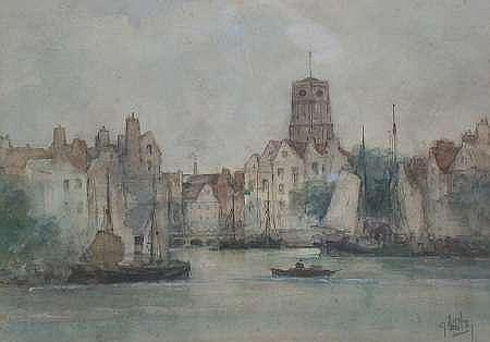 JAMES LITTLE (SCOTTISH, FL.1875-1910) ROTTERDAM 20cm x 29cm