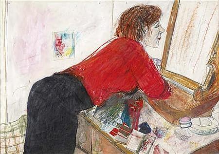 FIONNA CARLISLE (B. 1954) PORTRAIT OF LILIAN 63cm x 79cm (24.75in x 31in)