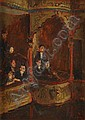 BRIAN DAVIS (MICHAEL FFOLKES) (1925-1988) THE THEATRE BOX (POPULAR THEATRE) 28cm x 38cm (11in x 15in), Brian Davis Ffolkes, Click for value