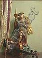 JOHN BULLOCH SOUTER (SCOTTISH 1890-1972) STILL LIFE WITH BAROQUE FIGURE 56cm x 41cm (22in x 16in)