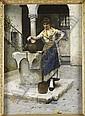 ALBERT CHEVALLIER TAYLER (BRITISH 1862-1925) BY THE WELL 76cm x 55cm (30in x 21.5in)