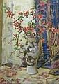 ARCHIBALD RUSSELL WATSON ALLAN (SCOTTISH 1878 - 1959) BLOSSOM IN A CHINESE VASE 75cm x 55cm (29.5in x 21.5in), Archibald Russel Watson Allan, Click for value