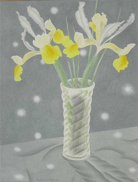 BARBARA BALMER A.R.S.A., R.S.W., R.G.I (SCOTTISH B.1929) FLOWERS AND SUNBEAMS 44cm x 34cm (17.25in x 13.25in)