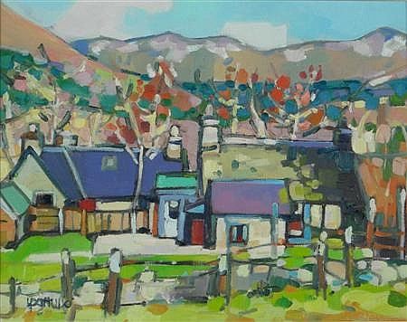 LIN PATTULLO (SCOTTISH, B. 1949) BALQUIDDER, SPRING 26cm x 34cm (10in x 13.25in)