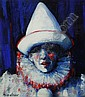MARY GALLAGHER (SCOTTISH, B. 1953) SPOTLIT CLOWN 29cm x 26cm (11.5in x 10in), Mary Gallagher, Click for value