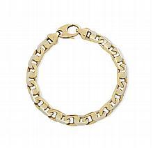 A fancy link bracelet 21cm long, 42.3g
