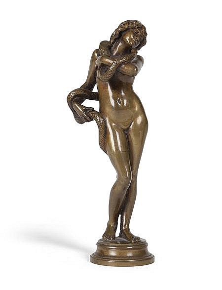 JEAN ANTOINE MARIE IDRAC (FRENCH, 1849-1884) SALAMBO 13cm high