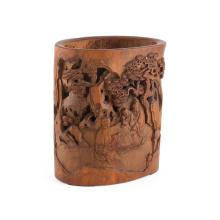 BAMBOO BRUSHPOT 16.5cm high
