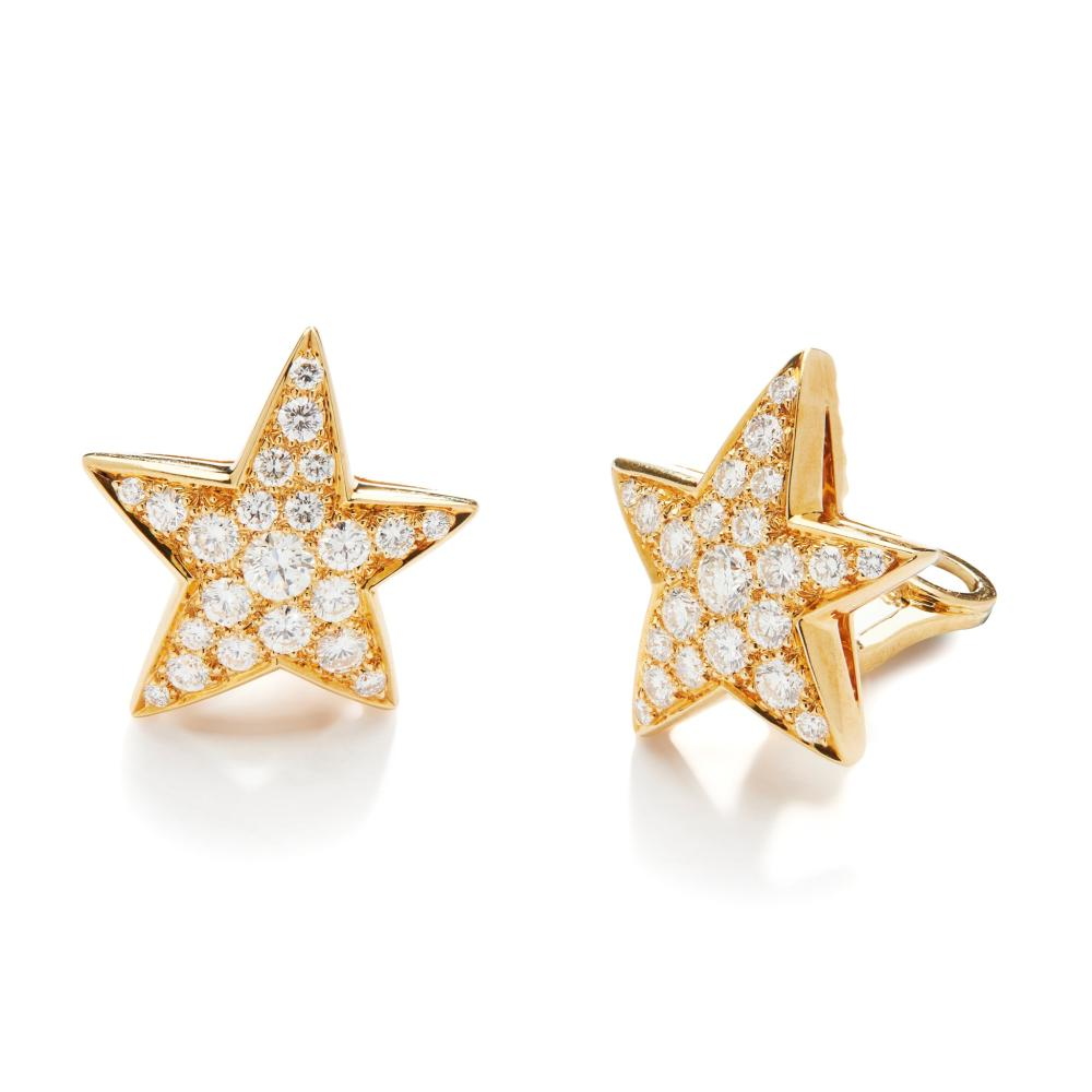 A pair of diamond 'Comete' earrings, by Chanel