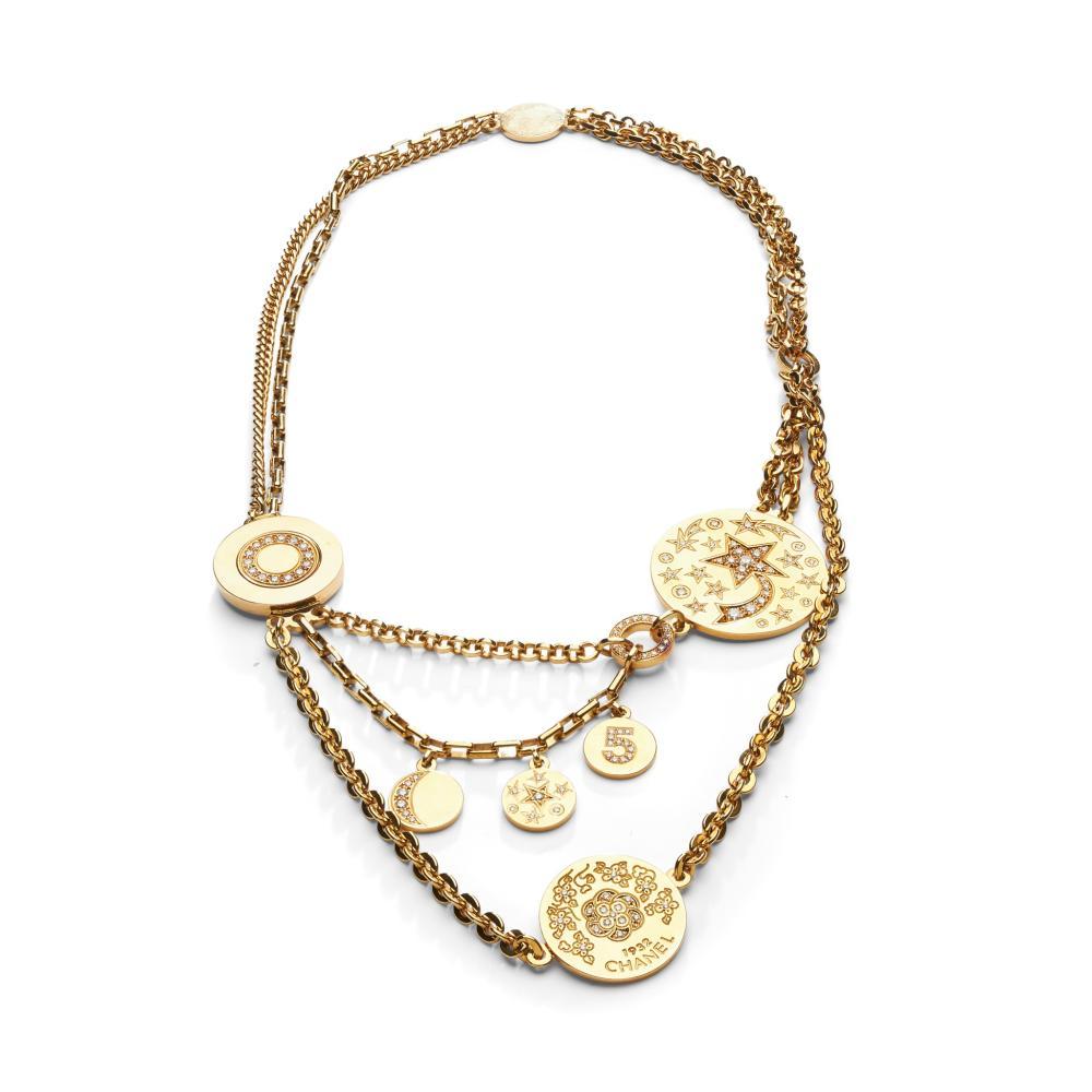 A diamond-set necklace, by Chanel