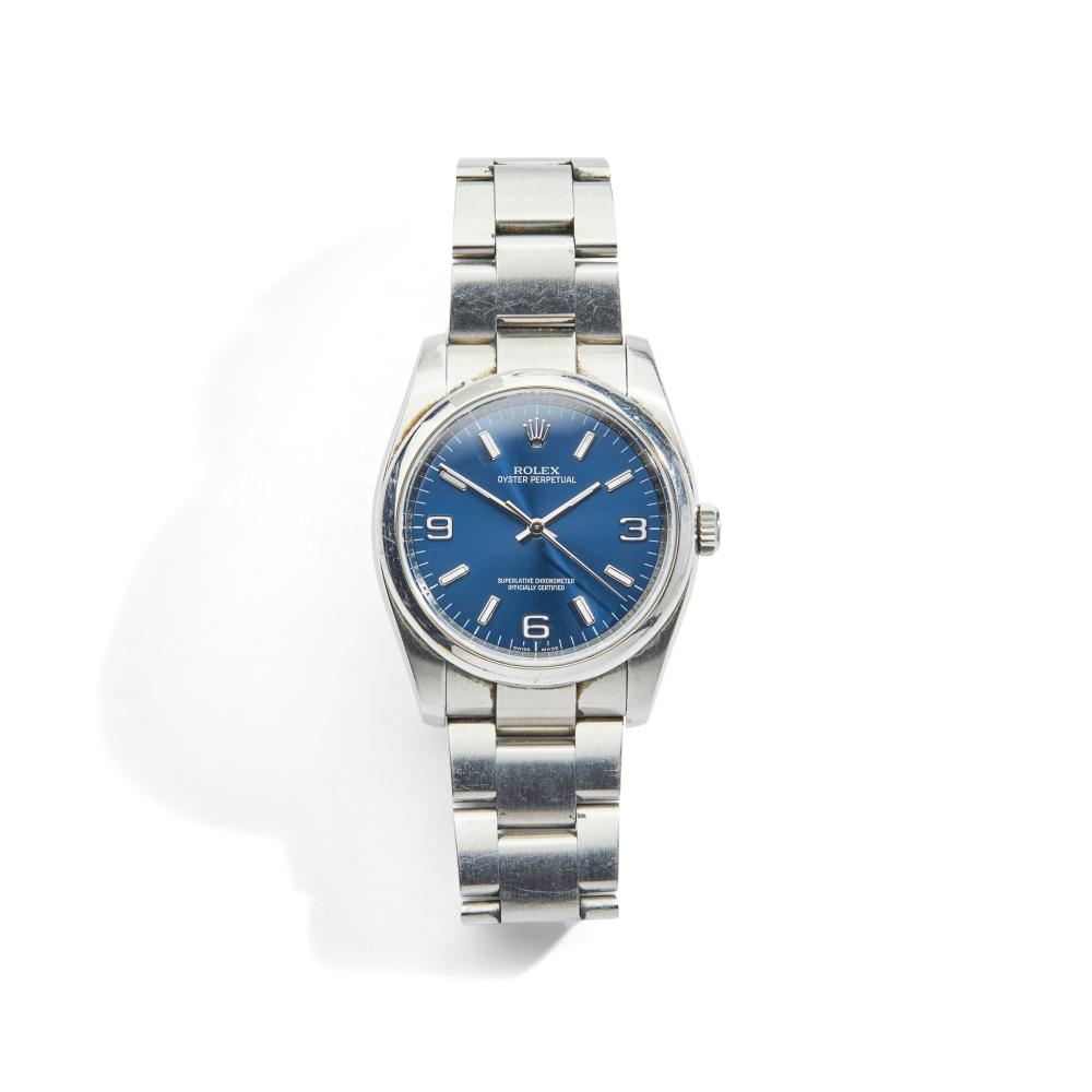 Rolex: a steel wrist watch