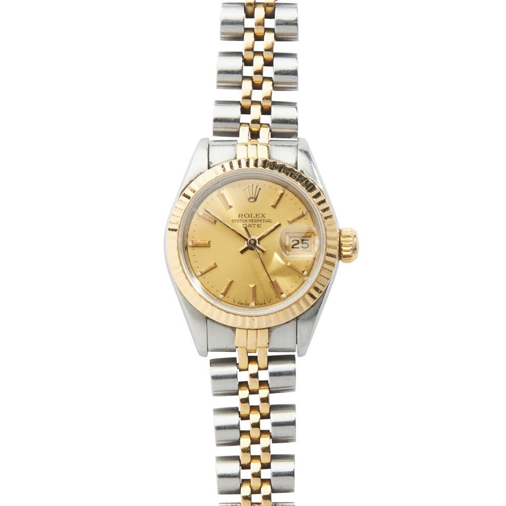 Rolex: a bi-colour wrist watch