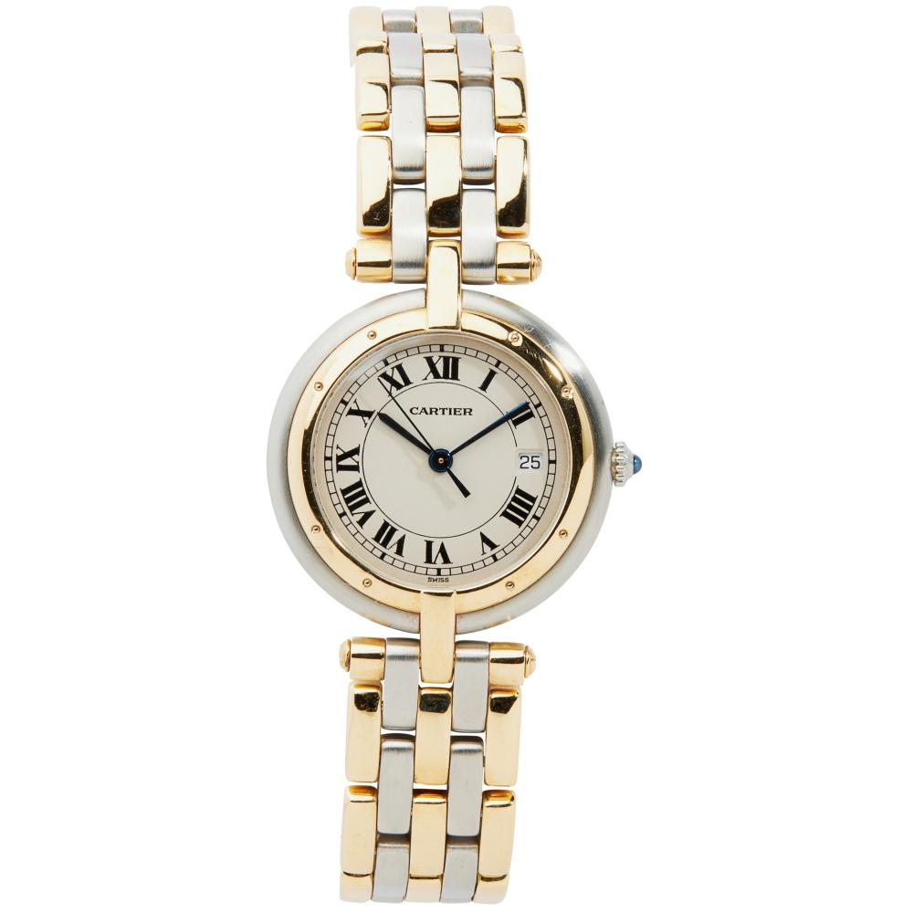 Cartier: a bi-colour Panthere Vendome wrist watch