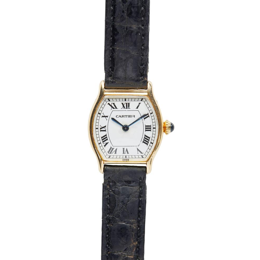 Cartier: a Tortue wrist watch