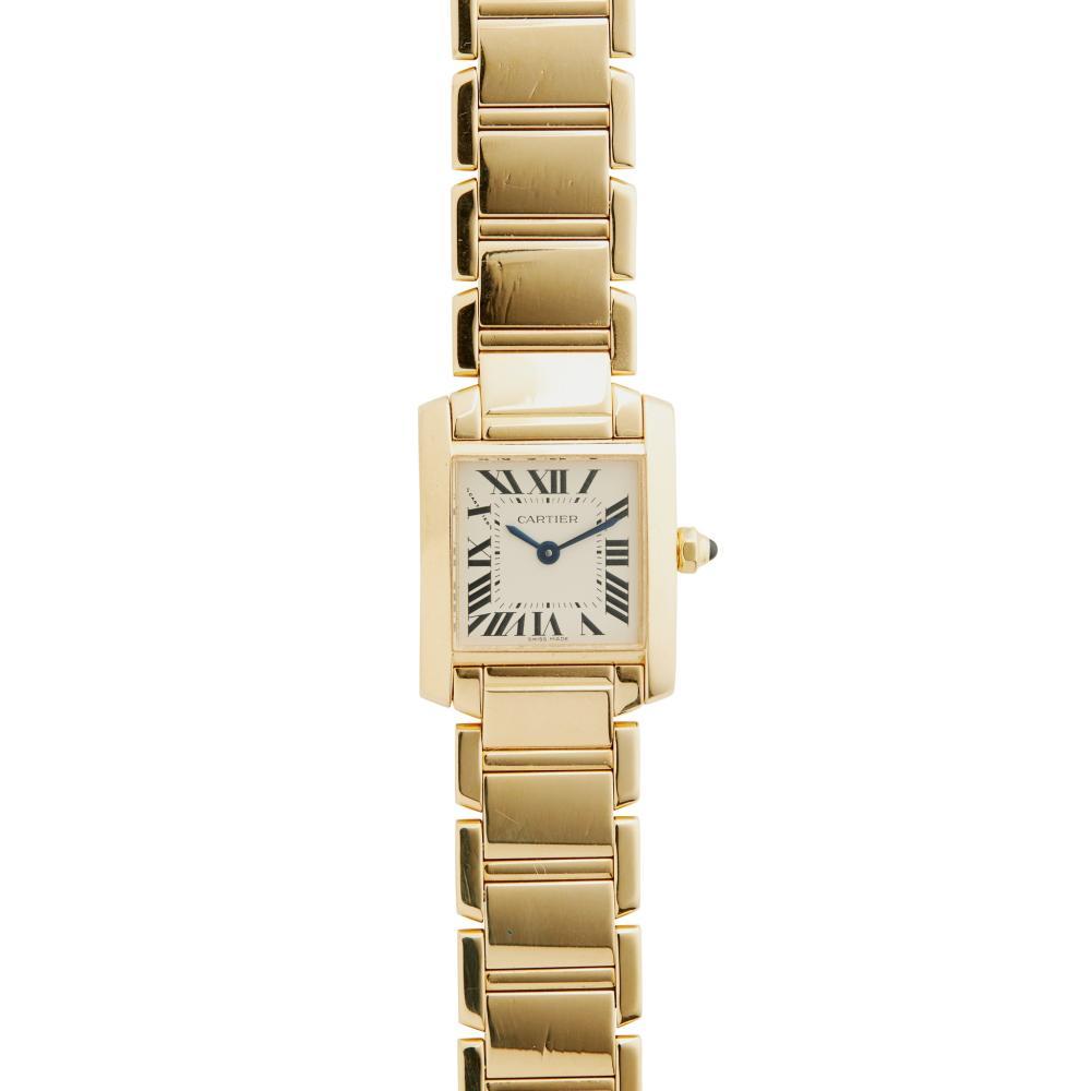 Cartier: a Tank Francaise wrist watch