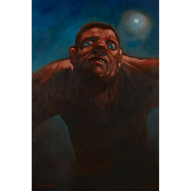 § PETER HOWSON O.B.E. (SCOTTISH B.1958) UNTITLED 92.5cm x 63.5cm (36.5in x 25in)