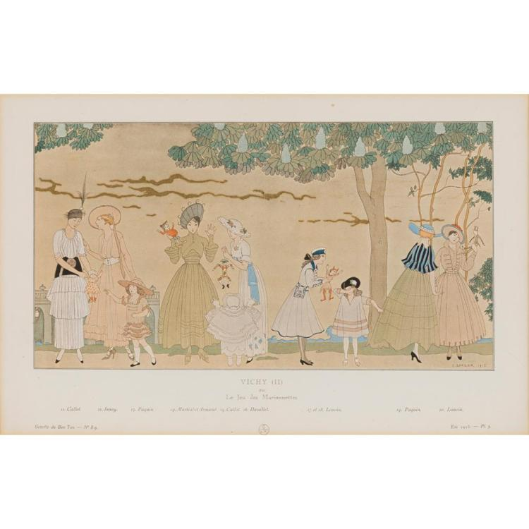 GEORGE BARBIER (1882-1932) AND § GEORGES LEPAPE (1887-1971) COLLECTION OF FRAMED PRINTS, 1920S