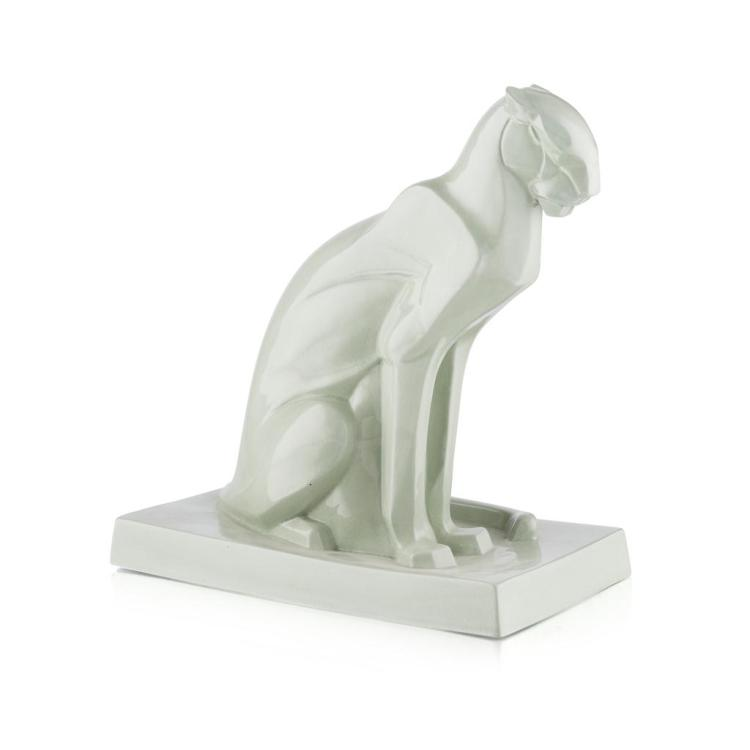 ALLEN BEST FOR WEDGWOOD 'THE PANTHER' CERAMIC FIGURE, CIRCA 1930 29.5cm high