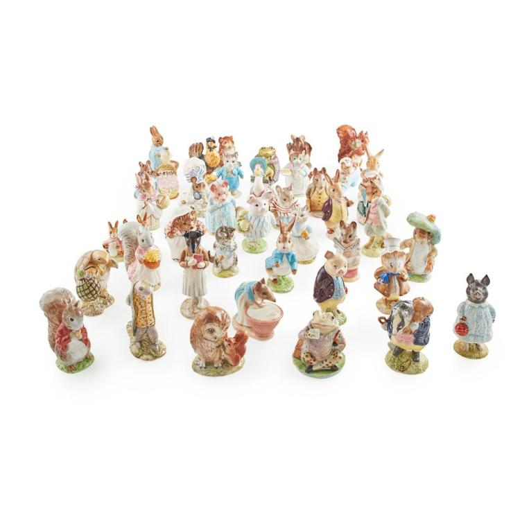 BESWICK POTTERY GROUP OF EARLY BEATRIX POTTER FIGURES, 1948-1974 tallest 11.5cm high