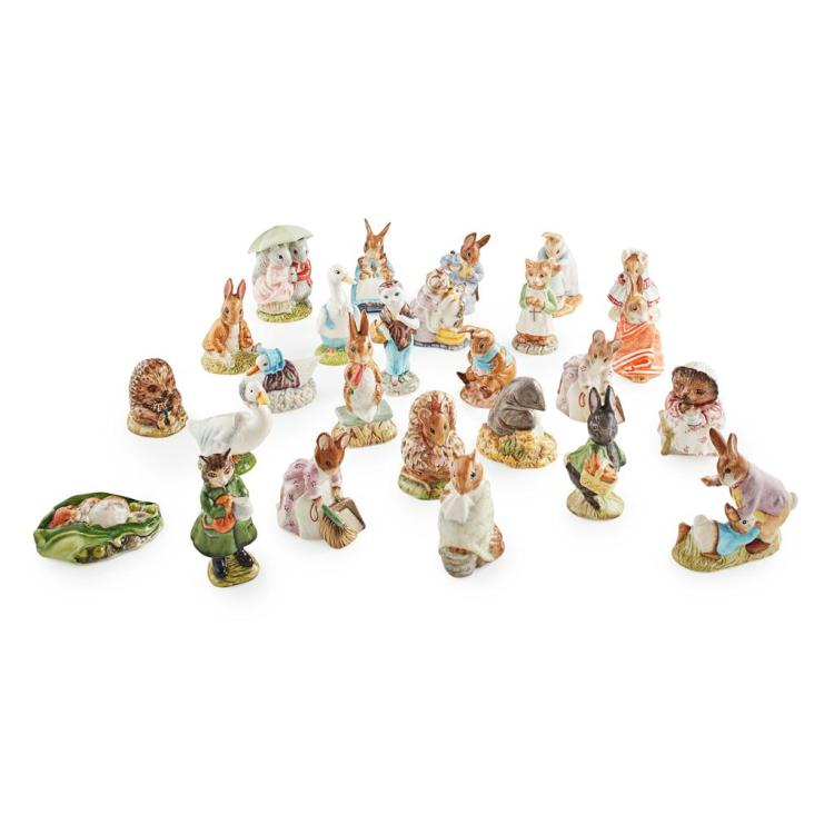 BESWICK POTTERY GROUP OF BEATRIX POTTER FIGURES, 1975-1996 tallest 12cm high