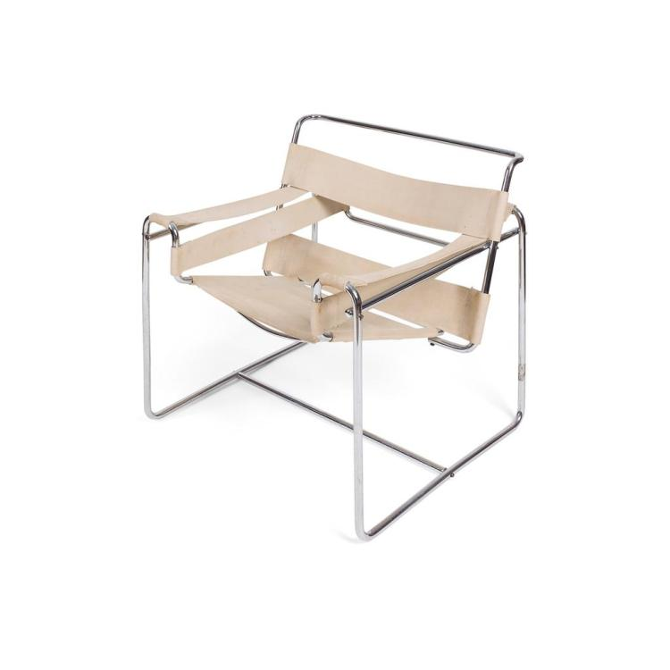 MARCEL BREUER (1902-1981) FOR GEBRÜDER THONET 'WASSILY' CLUB CHAIR, MODEL B3, DESIGNED 1925 77cm wide, 76cm high, 68cm deep