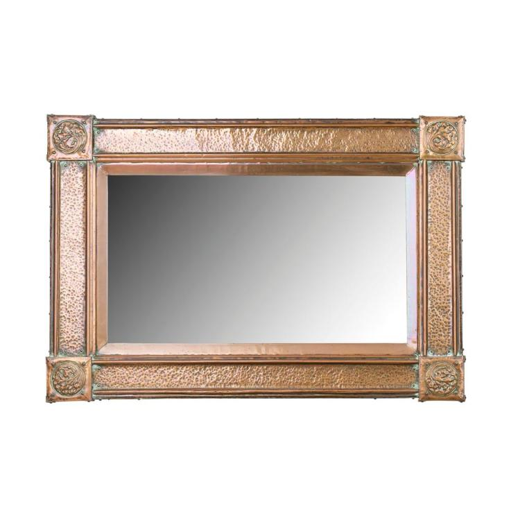 ARTS & CRAFTS COPPER FRAMED WALL MIRROR, CIRCA 1910 109cm wide, 75cm high