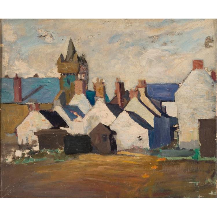 LATE 19TH/EARLY 20TH CENTURY SCOTTISH SCHOOL THE TOLLBOOTH, KIRKCUDBRIGHT 42cm x 50.5cm (16.5in x 19.75in)