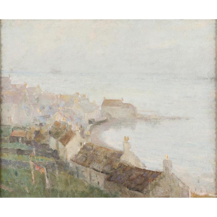 LATE 19TH/EARLY 20TH CENTURY SCOTTISH SCHOOL THE ROCKHOUSE, PITTENWEEM 49cm x 59.5cm (19.25in x 23.5in)